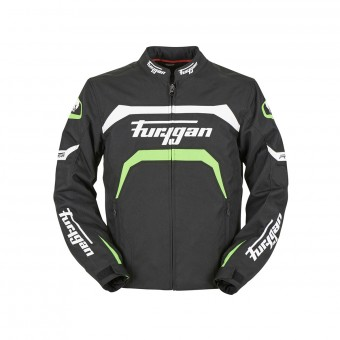 Motorcycle Jackets Furygan Arrow Black White Green Fluo