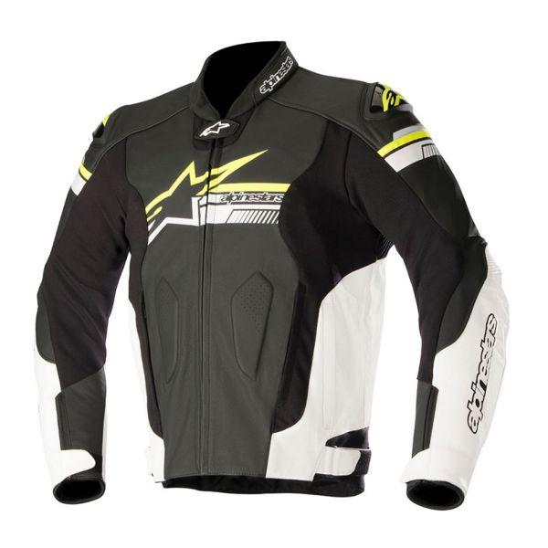 Alpinestars Motorcycle Jacket >> Motorcycle Jackets Alpinestars Fuji Black White Yellow Fluo Ready To