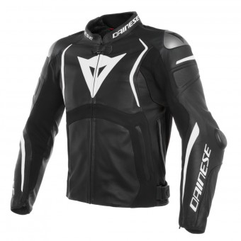Motorcycle Jackets Dainese Mugello Leather Black White