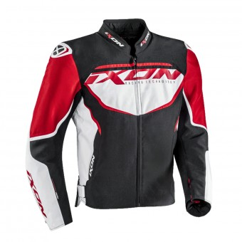 Motorcycle Jackets Ixon Sprinter Black White Red