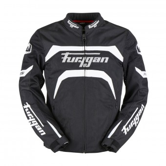 Motorcycle Jackets Furygan Arrow Vented Black White