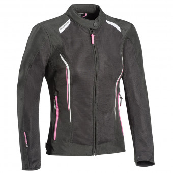 Motorcycle Jackets Ixon Cool Air Lady Black White Pink
