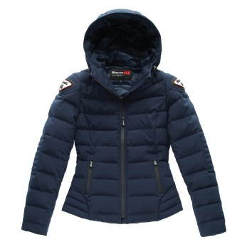 Motorcycle Coats Blauer Easy Winter Woman Blue Navy