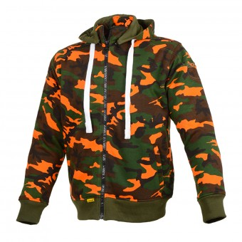 Motorcycle Jackets Booster Hoodie Core Camo Kaki Orange