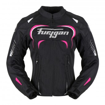 Motorcycle Jackets Furygan Kiara Vented Lady Black Pink