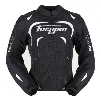 Motorcycle Jackets Furygan Kiara Vented Lady Black White