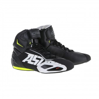 Motorcycle Trainers Alpinestars Faster 2 Black White Yellow Fluo