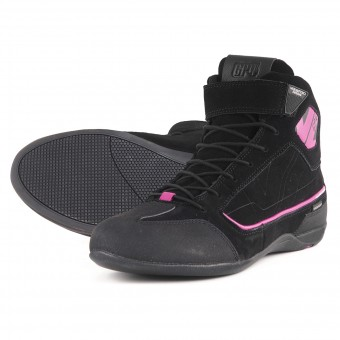 Motorcycle Trainers V'Quattro GP4 Lady Waterproof Black Pink