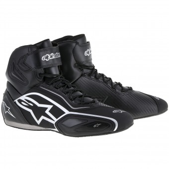 Motorcycle Trainers Alpinestars Faster 2 Black Silver