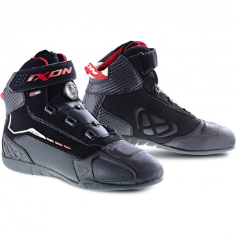 Motorcycle Trainers Ixon Soldier Evo Black Red