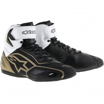 Motorcycle Trainers Alpinestars Stella Faster 2 Black White Gold
