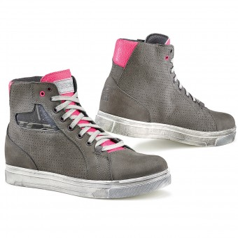 Motorcycle Trainers TCX Street Ace Lady Air Grey Fuschia