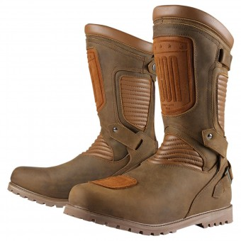Motorcycle Boots ICON 1000 Prep Waterproof Brown
