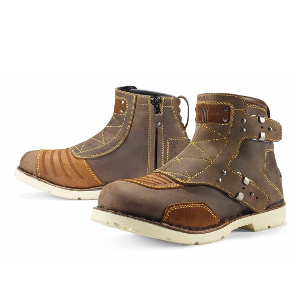 Motorcycle Boots ICON El Bajo Oiled Brown