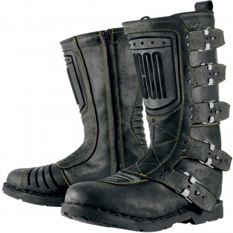 Motorcycle Boots ICON Elsinore Johnny Black