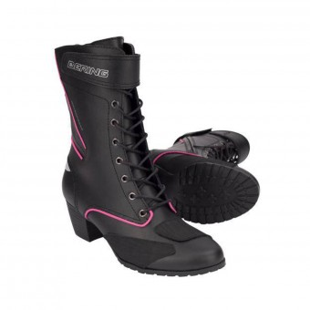 Motorcycle Boots Bering Lady Morgane Black Fuchsia