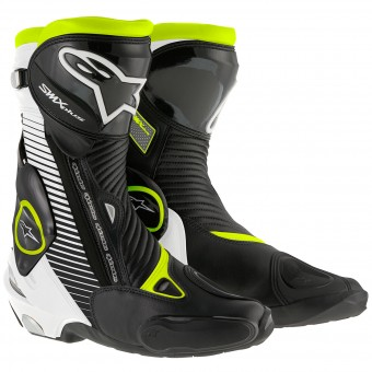 Motorcycle Boots Alpinestars SMX Plus Black White Yellow Fluo