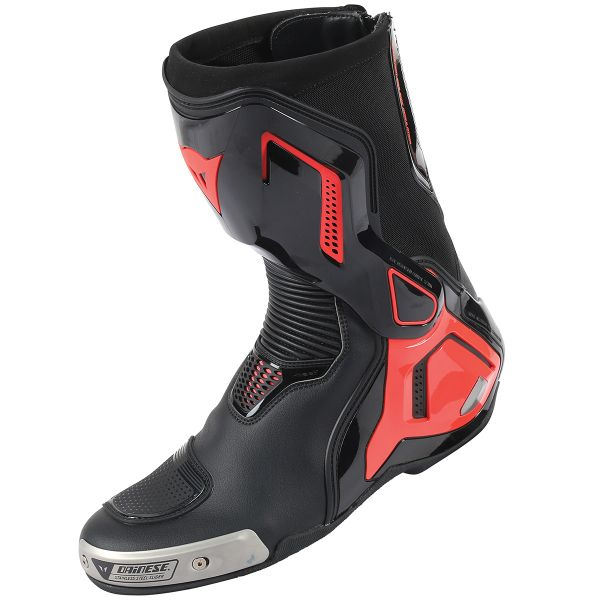 Motorcycle Boots Dainese Torque Out D1 Black Red Fluo