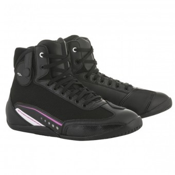 Motorcycle Shoes Alpinestars Stella AST-1 Black White Fuchsia