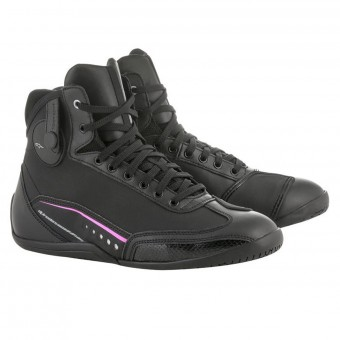 Motorcycle Shoes Alpinestars Stella AST-1 Drystar Black Fuchsia