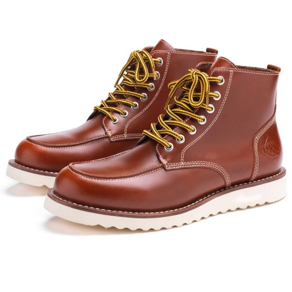 Motorcycle Shoes Ride & Sons Desert Moc Mid Boot Brown