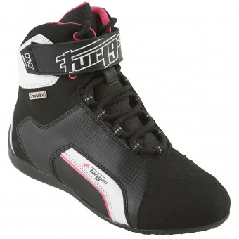 Motorcycle Shoes Furygan Jet Lady D3O Sympatex Black Pink