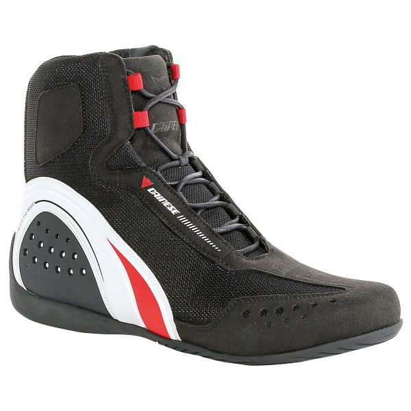 Motorcycle Shoes Dainese Motorshoe Air Black White Red