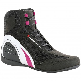 Motorcycle Shoes Dainese Motorshoe Air Lady Black White Fuschia