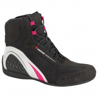 Motorcycle Shoes Dainese Motorshoe Lady D-WP Black White Fuschia