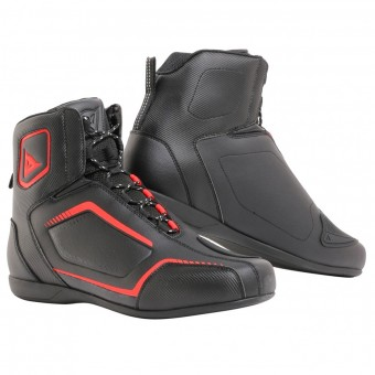 Motorcycle Shoes Dainese Raptors Black Fluo Red