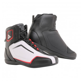 Motorcycle Shoes Dainese Raptors Black White Lava Red