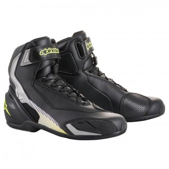 Motorcycle Shoes Alpinestars SP-1 V2 Black Silver Yellow Fluo