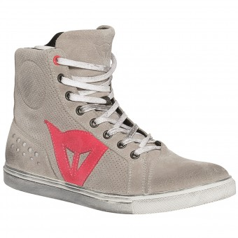 Motorcycle Shoes Dainese Street Biker Lady Air Grey Coral