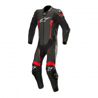 Leather Motorcycle Suits Alpinestars Missile Suit Black Red