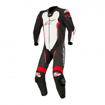 Leather Motorcycle Suits Alpinestars Missile Suit Black White Red Fluo