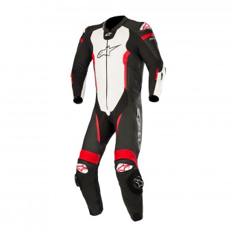 Leather Motorcycle Suits Alpinestars Missile 1P Compatible Tech-Air Black White