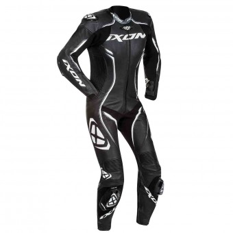 Leather Motorcycle Suits Ixon Vortex Lady Black White