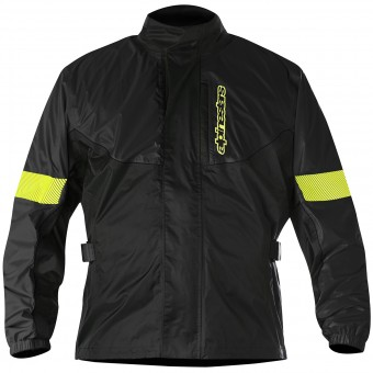 Rain Jackets & Coats Alpinestars Hurricane Rain Jacket Black Yellow Fluoro