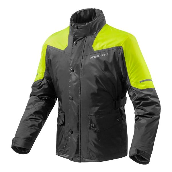 Rain Jackets & Coats REV'IT Nitric 2 H2O Black Yellow Neon