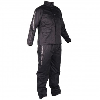 Motorcycle Rain Suit V'Quattro Arcus Pack Black