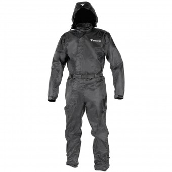 Motorcycle Rain Suit Dainese D-Crust Suit Black
