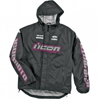 Rain Jackets & Coats ICON PDX Bib Womens Pink Black Vest