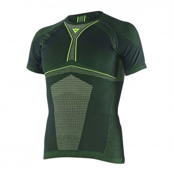 Base Layer Shirts Dainese D-Core Dry Tee SS Black Yellow