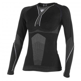 Base Layer Shirts Dainese D-Core Dry Tee LS Lady Black White