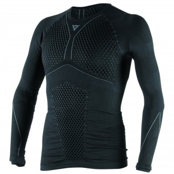 Base Layer Shirts Dainese D-Core Thermo Tee LS Black Anthracite