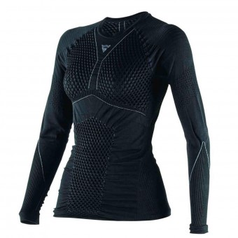 Base Layer Shirts Dainese D-Core Dry Tee LS Lady Black Anthracite