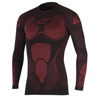 Base Layer Shirts Alpinestars Ride Tech Top LS Summer Black Red