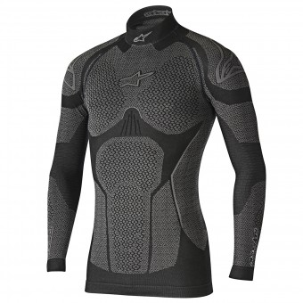 Base Layer Shirts Alpinestars Ride Tech Top LS Winter Black Grey