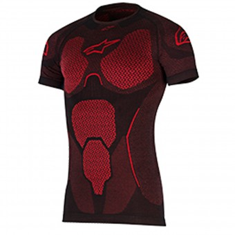 Base Layer Shirts Alpinestars Ride Tech Top SS Summer Black Red