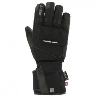 Motorcycle Gloves V'Quattro Advance 17 2.1 Gore-Tex Black